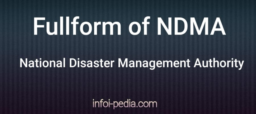 NDMA full form, Full form of NDMA in Government