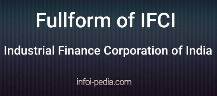 IFCI full form, what is the full form of IFCI