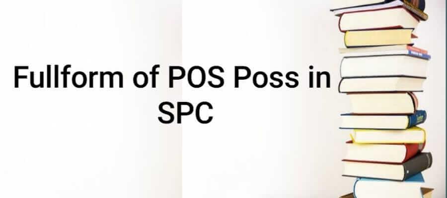 Full form of POS Poss in SPC